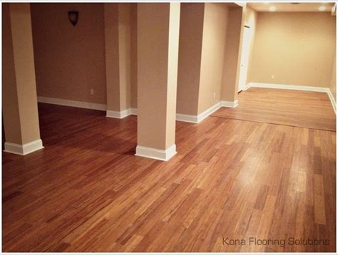 bamboo flooring in basement bamboo floor style basement new york by kona flooring solutions llc