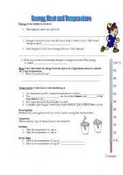 english worksheets heat and temperature