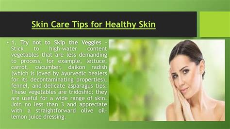 5 Nutritious Tips For Healthy Skin by Ppt Tips For Glowing Skin Tips For Healthy Skin