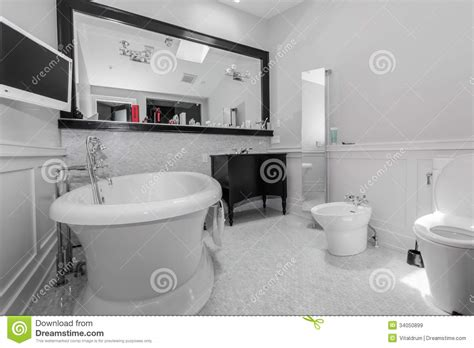 bathroom monitor big stylish classic bathroom stock image image 34050899