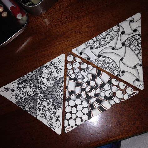 zentangle triangle pattern 28 best triangle zentangle images on pinterest zentangle