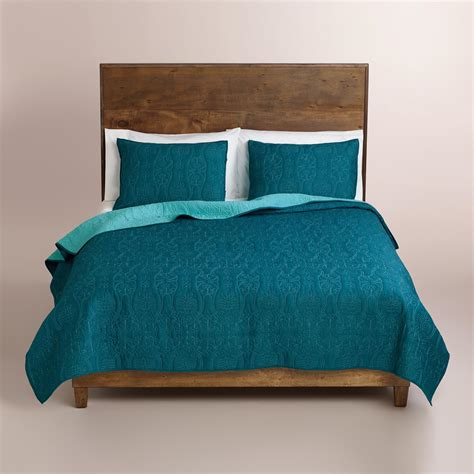 Aqua Blue Bedding by Ink Blue And Aqua Bedding Collection World Market