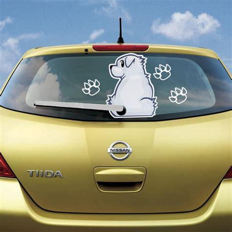 Aufkleber F R Auto Hund by Aufkleber Sticker Wei 223 Hund Tier F 252 R Auto Heckscheibe Und