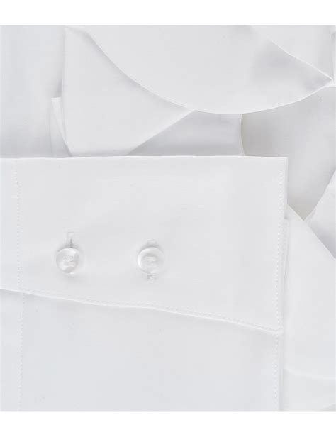 White Frill Detail Shirt s white poplin fitted shirt with frill detail