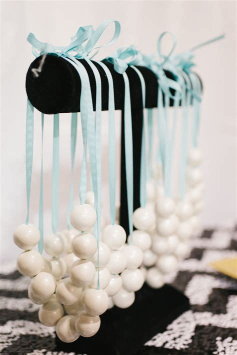 pearl themed events party reveal breakfast at tiffany s party