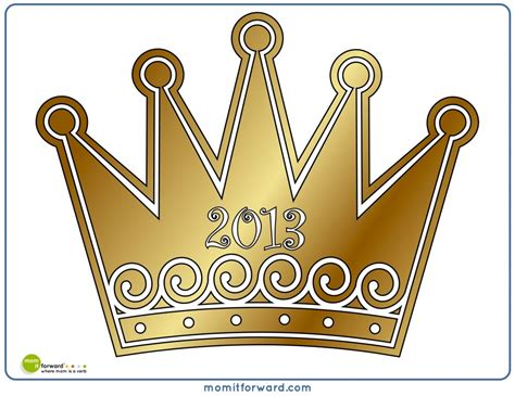 printable new year s crown best photos of photo booth props printable crown happy