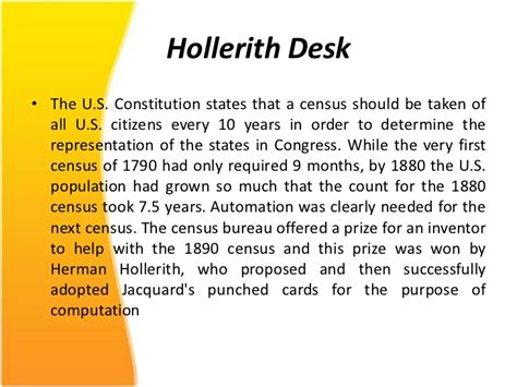 Hollerith Desk by The History Of Computers