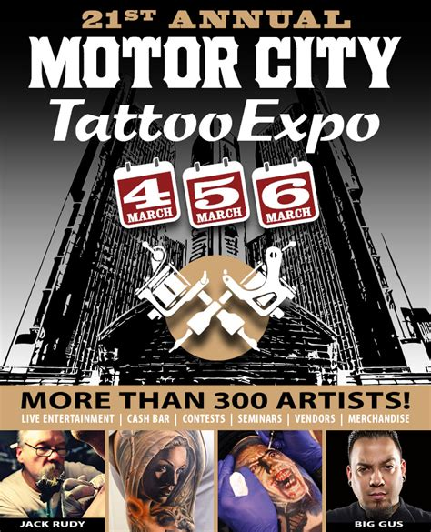 motor city tattoo expo motorcityblog this weekend march 4 6 21st annual motor