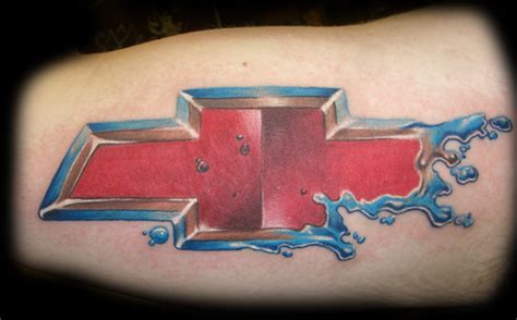 chevy bowtie tattoo choosing chevrolet logo