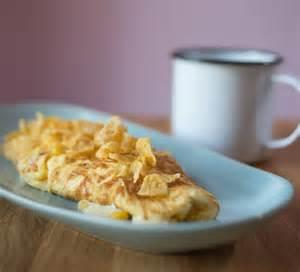 cheesy corn omelette recipe