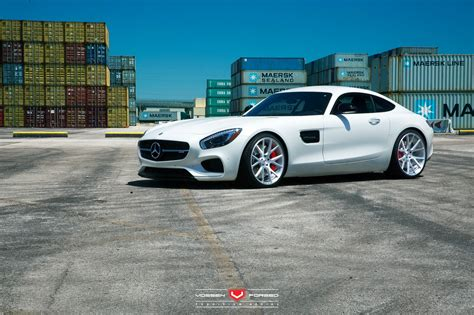 lowered amg benzboost white c190 mercedes amg gt s lowered on