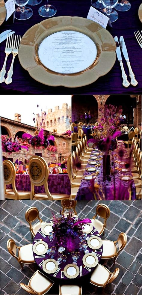 purple and gold decorations purple and gold wedding ideas wedding stuff ideas