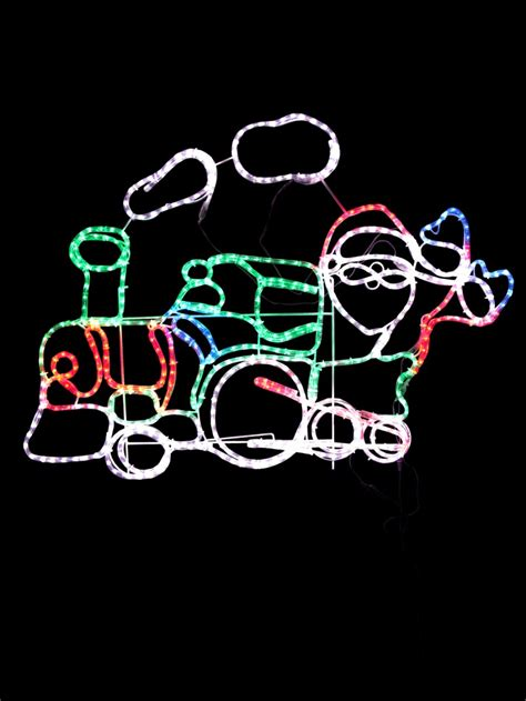 rope light silhouettes santa steam led rope light silhouette 1 2m