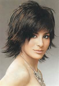 images choppy shag hairstyle medium length shaggy haircuts for women