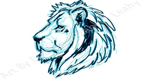 lion tattoo sketch by bri e leahy june 2011