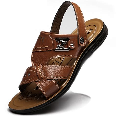 mens size 14 sandals big size 37 48 mens sandals slippers genuine leather