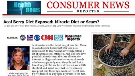 best health news websites acai diet scam news and other alleged