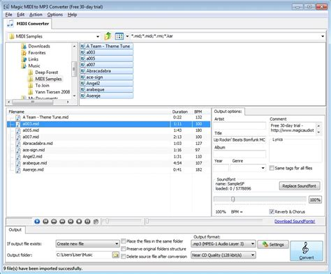 mp3 download link converter magic midi to mp3 converter 2 4 42 full screenshot