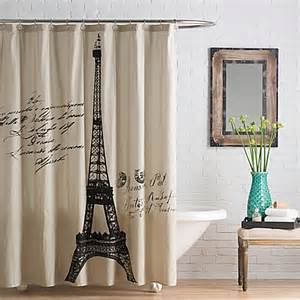 Bed Bath Shower Curtains Buy Anthology Paris Cotton Shower Curtain From Bed Bath