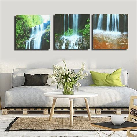living room prints 3 cascade large waterfall framed print painting canvas