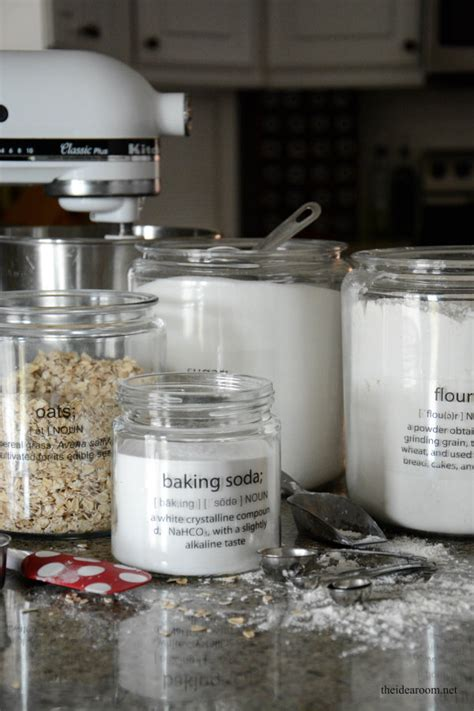 Diy Pantry Labels by Kitchen Organization Tips The Idea Room