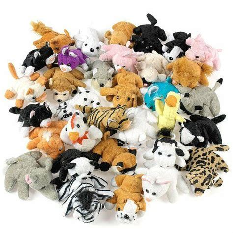 plush mini bean bag animals assortment party favor kids