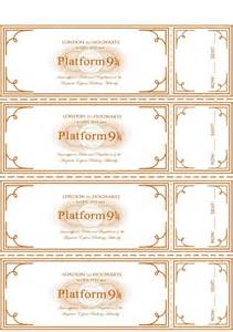 free harry potter hogwarts express ticket template plus