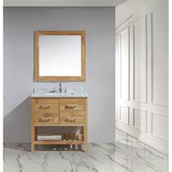 White Open Vanity Design Element 36 Quot Vanity With Open Bottom White