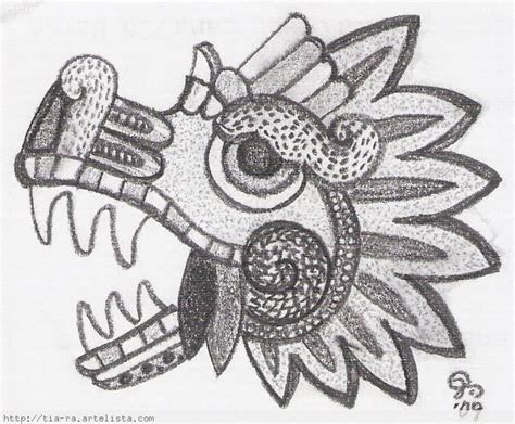 imagenes aztecas vs españoles quetzalcoatl serpiente emplumada dibujo a lapiz imagui