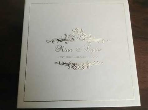 wedding invitation card cover design price 17dollars australian includes hard cover invitation