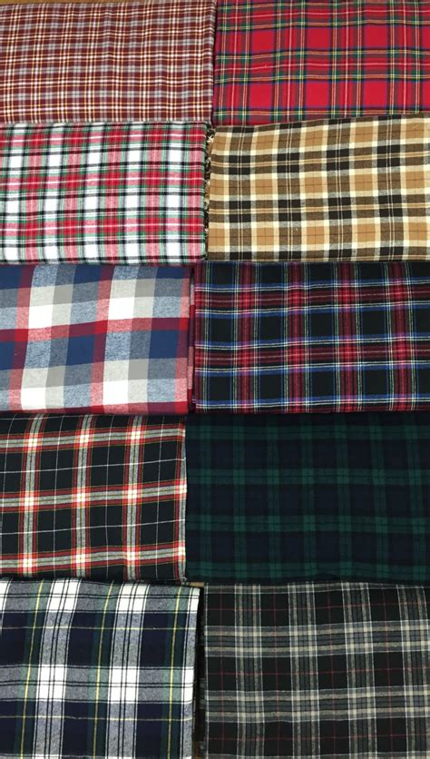 plaid flannel cotton fabric chicago canvas supply