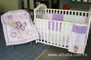 100 cotton purple butterfly embroidered stitching baby