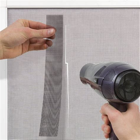 Hair Dryer Screen Repair the screenmend window screen repair kit fixes windows in a minute