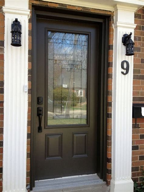 dark brown front door 25 best ideas about exterior doors with glass on