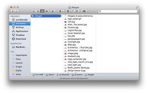 interno web mail allegati mail su mac come rimuoverli per alleggerire l
