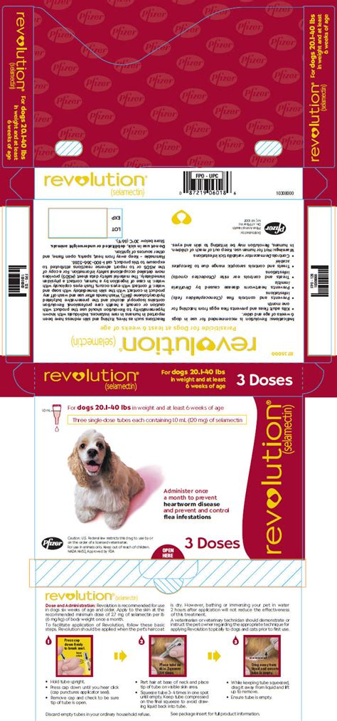 Revolution Selamectin 20 1 40lbs revolution 174 selamectin topical parasiticide for dogs and