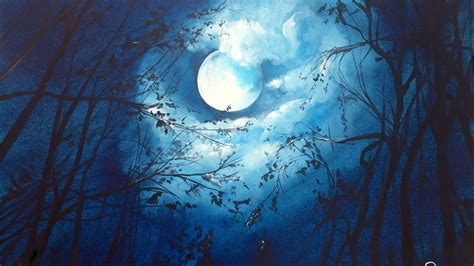 moon and light watercolor moonlight painting demonstration