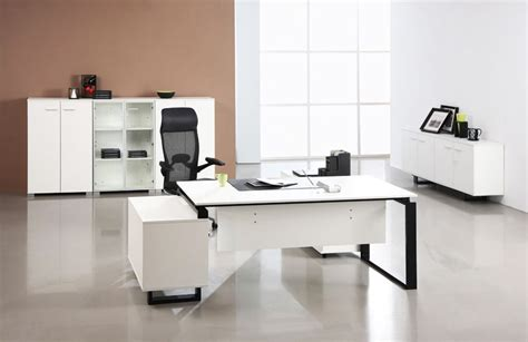 white modern office desk modern office desks to enhance your office