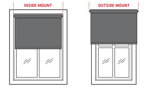 how to mount shades inside window what is the difference between inside or outside mounted