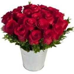 Best Flower Delivery A Bucket Of Roses With Same Day Flower Delivery In New York