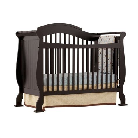 Fixed Side Convertible Crib Stork Craft Valentia 4 In 1 Fixed Side Convertible Crib In Black 04587 25b