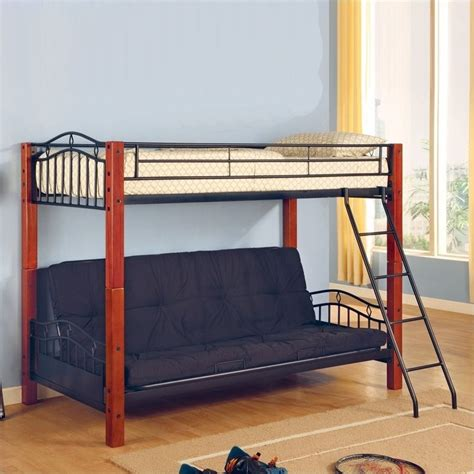 Black Metal Futon Bunk Bed by Coaster Jonathan Wood And Metal Futon Bunk Bed