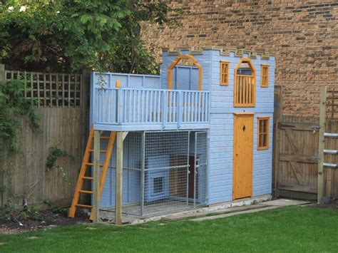 Childrens Playhouse With Dog Kennel Castles The Playhouse Company