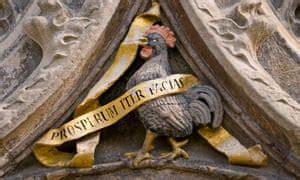 cambridge cockerel   cecil rhodes statue