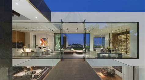 modern glass house designs a dramatic glass home overlooking the l a basin