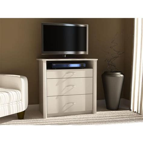 bedroom dresser tv stand shop altra white media dresser tv stand with 3 drawers free shipping today overstock