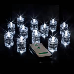 submersible white led vase lights w remote 12 pk smarty