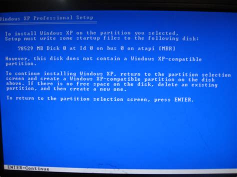 xp setup error how to solve quot disk does not contain a windows xp