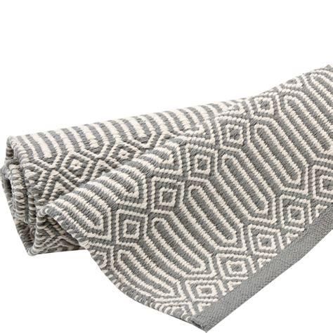 teppich grau weiß teppich braid 200 x 300 cm grau weiss bei le bon jour