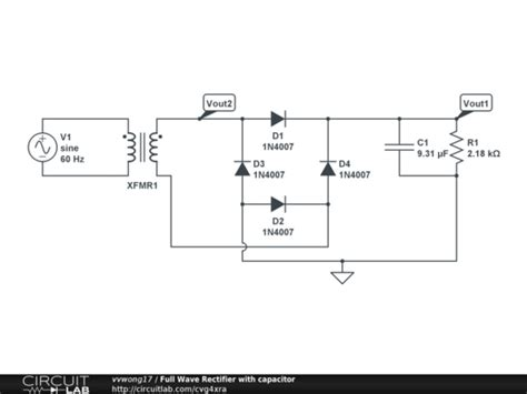 capacitor used in rectifier circuit wave rectifier with capacitor circuitlab